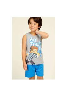 Pijama Infantil Menino Personagem Njmix Short Regata Masculino