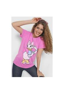Camiseta Colcci Margarida Rosa