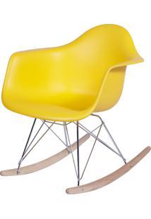 Poltrona Eames Dar Balanço Or-1122 – Or Design - Amarelo