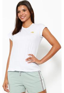 ce68f6ed15982 Camiseta Com Logo Da Marca- Branca   Douradaclub Polo Collection