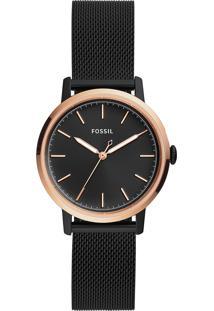 Relógio Analógico Fossil Feminino - Es4467/1Pn Preto