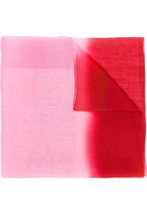 Emporio Armani Echarpe Com Transparências - Vermelho 3c9b28fa86