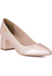 718fb2d601 Sapato Scarpin Em Couro - Rosa Claro - Salto  5