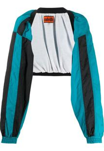 Colville Cropped Open Front Jacket - Azul