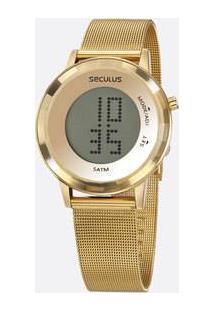Relógio Feminino Digital Led Mondaine 77046Lpsvds1