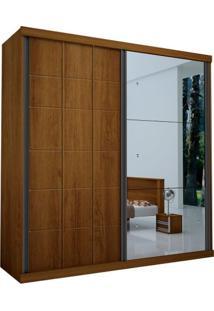 Guarda-Roupa Top Luxo Com Espelho - 100% Mdf - Noce