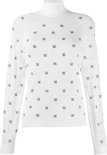 Fendi High Collar Pullover - Branco