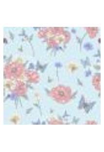Papel De Parede Autocolante Rolo 0,58 X 3M - Flores Borboletas Abelhas 285425525