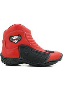 Bota Motociclista Atron Shoes 283 Couro Masculina - Masculino