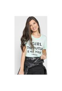 Camiseta Colcci Girl The Future Is All Yours Verde