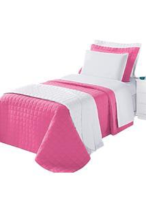 Cobre Leito Montreal Solteiro 2 Peças 100% Algodão 150 Fios Pink