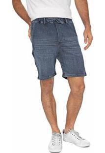 Bermuda Bloom Jeans Jogger Masculina - Masculino-Azul