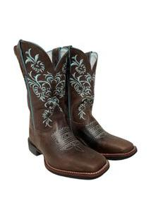 Bota Texana Feminina Durango Marrom Ref: 170001G2M