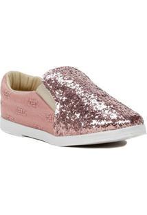 Sapato Infantil Para Menina - Rosa/Dourado