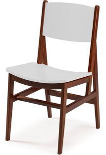 Cadeira Dumon Cor Cacau Com Branco - 30786 - Sun House