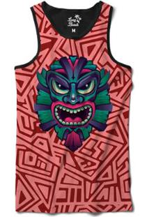 Camiseta Regata Long Beach Totem Arebescos 1 Sublimada Masculina - Masculino -Vermelho 4ccac058f46