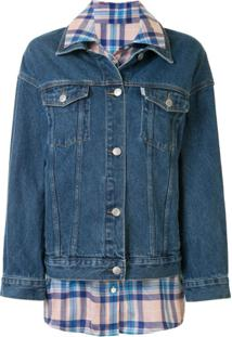 Portspure Shirt-Insert Denim Jacket - Azul