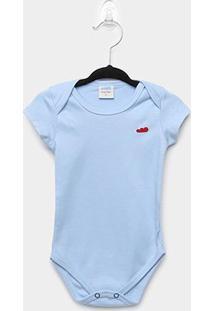 Body Infantil Marlan Bebê Básico - Masculino-Azul Claro