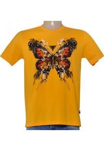 3580ac445 Camiseta Masc Cavalera Clothing 01.01.8686 Amarelo Mostarda