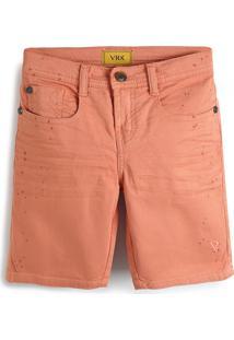 Bermuda Jeans Vr Kids Menino Liso Laranja