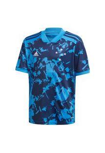 Camisa Adidas Cruzeiro Iii 20/21 Infantil - Azul