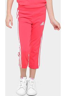 Calça Corsário Infantil Adidas Gear Up Feminina - Feminino-Vermelho