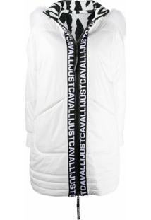 Just Cavalli Reversible Puffer Coat - Branco