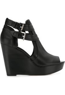 Michael Michael Kors Blaze Open-Toe Boots - Preto