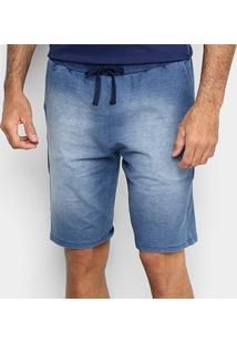 Bermuda Malwee Comfort Moletinho Masculina - Masculino