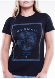 Camiseta Mormaii Básica Cool Feminina - Feminino-Azul