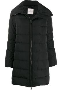 Moncler Flared Sleeve Padded Jacket - Preto