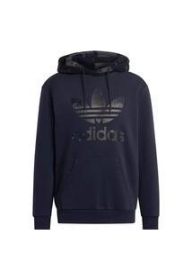 Blusa Canguru Adidas Camo Hoody Azul/Marinho