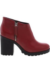 Short Ankle Boot Red Brown | Schutz