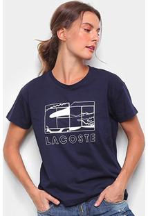 Camiseta Lacoste Jacaré Feminina - Feminino