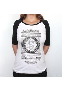 Smoking Gun - Camiseta Raglan Manga ¾ Feminina