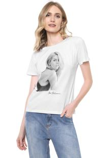 Camiseta Ana Hickmann Estampada Branca