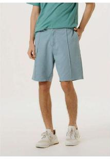 Bermuda Masculina Chino Color Block Azul