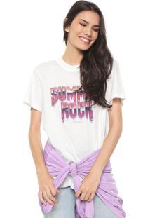Camiseta Colcci Summer Rock Off-White
