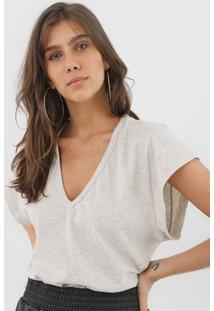 Camiseta Forum Gola V Cinza