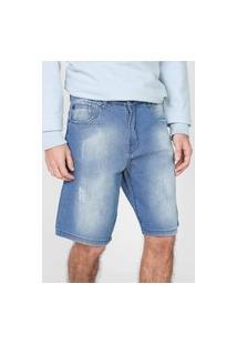 Bermuda Jeans Mcd Reta Walk Azul