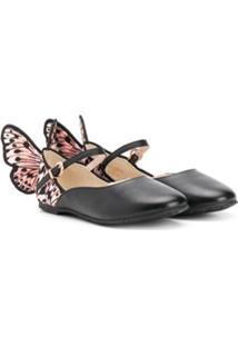 Sophia Webster Mini Sapato Chiara Com Asas De Borboleta - Preto
