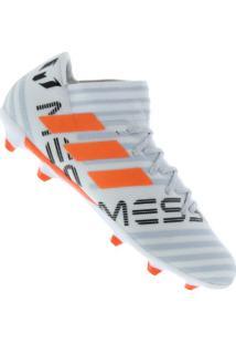 Chuteira De Campo Adidas Nemeziz Messi 17.3 Fg - Adulto - Branco Cinza 23df7b6ebef2f