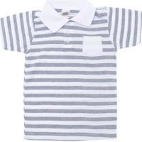 Camisa Polo Duzizo Menino Branca Cinza 8afdd42c57f88