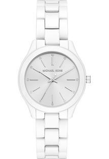 Relógio Analógico Michael Kors Slim Runway Feminino - Mk39081Kn Branco