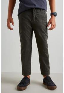 Calça Infantil Mini Sm Forrada Reserva Mini Masculina - Masculino-Verde Escuro
