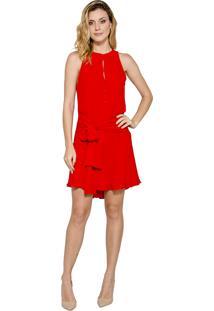 Vestido Alphorria A.Cult Mullet Evasê Vermelho