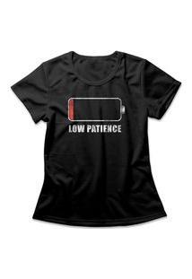 Camiseta Feminina Low Patience Preto