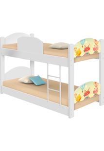 Beliche Infantil Fazendinha Animais Com 2 Colchãµes Casah - Branco/Multicolorido - Dafiti