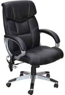 Cadeira De Escritório Presidente Com Massagem Cartagena Preto
