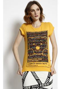 Camiseta Urso Com Aroma- Amarela & Preta- Coca-Colacoca-Cola